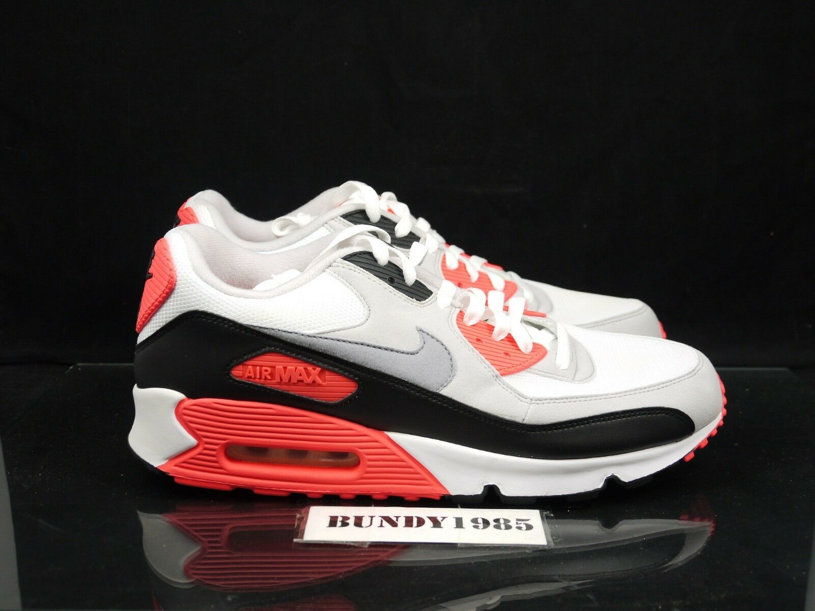 325018 107 Nike Air Max 90 2010 Infrared Men's SZ 13 hot lava volt supreme 2