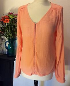 YUMI-TOP-UK-12-APRICOT-BLOUSE-REDUCED-PRICE