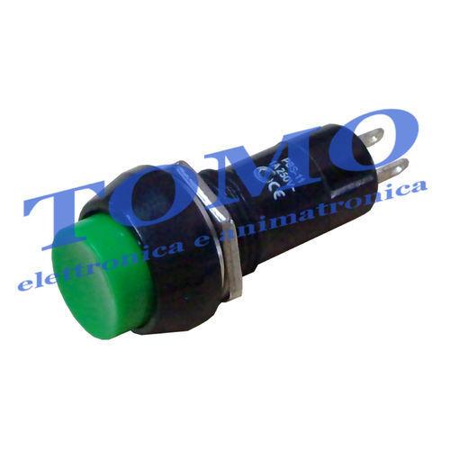 Pulsante da pannello VERDE 1 contatto normalmente aperto OFF 250V 1A ON