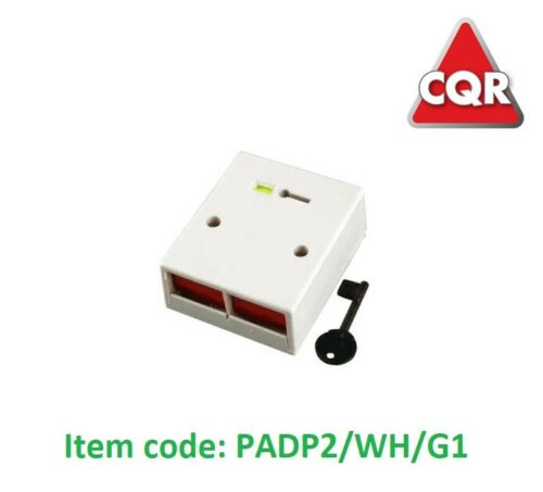 key CQR MAXIMA PADP2//WH//G1 Double Push Personal Attack Button White No Temper