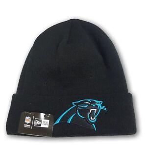 Image is loading Carolina-Panthers-Folded-Black-Beanie-NFL-New-With- ea90db2ac
