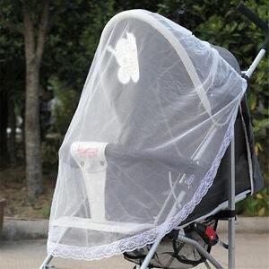 Bebe-poussette-poussette-Buggy-moustiquaire-Insect-Protector-Net-Safe-Mesh-I
