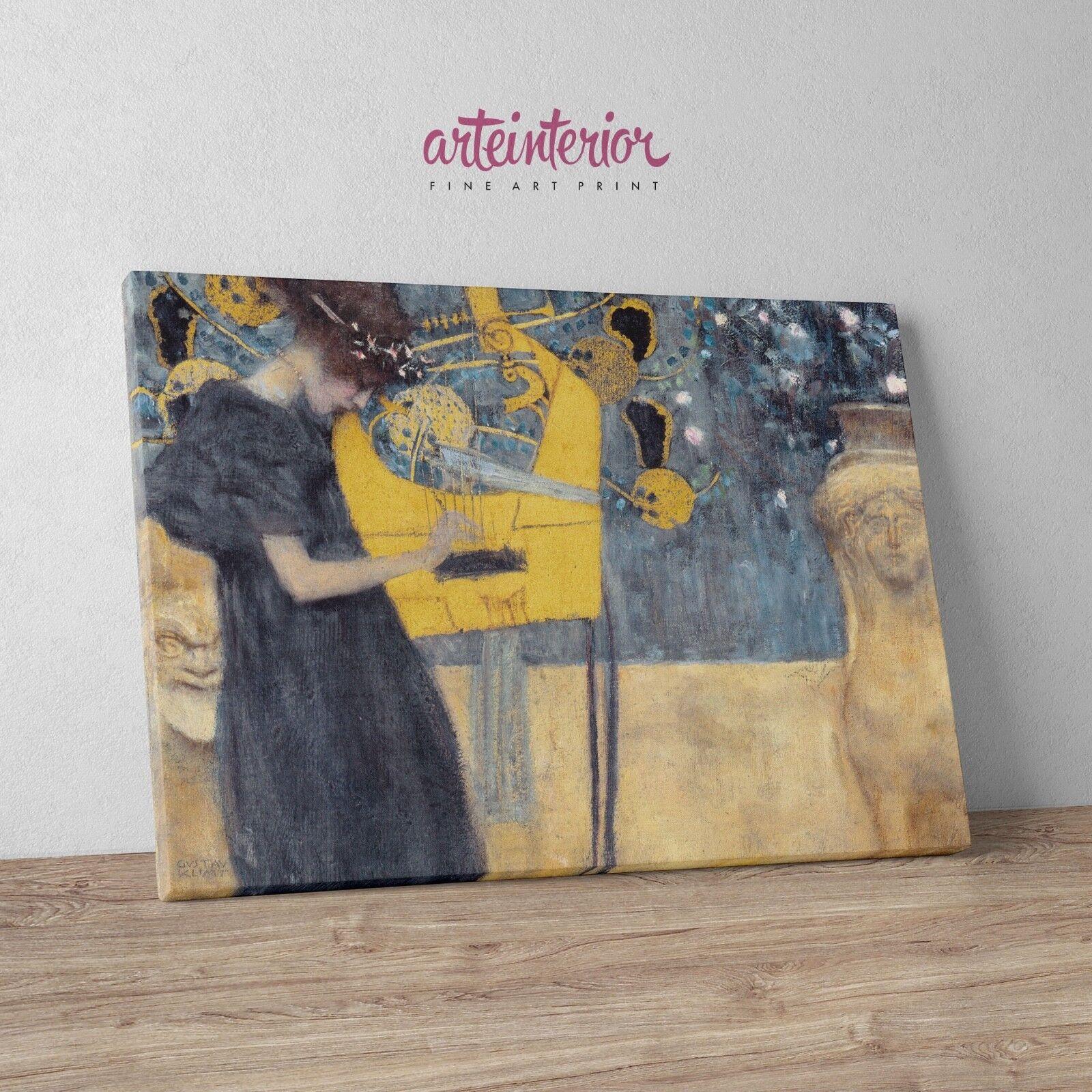 Gustav Klimt 'La Musica' Stampa Fine Art HR su tela Canvas Quadro Arte Music
