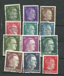 GERMANY OCCUP IN BALTIC COUNTRY LOT 12 DIFFERENT STAMPS, USED