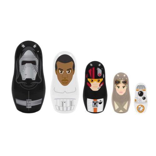 Star Wars Episode 7 The Force Awakens Babushka 5 Pc Nesting Dolls -Kylo Poe Ray