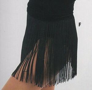 Black-12-034-Fringe-Skirt-with-Velvet-Stretch-Waistband-Snaps-Adult-Large