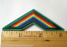 Retired Girl Scout Cadette BRIDGE TO SENIORS Rainbow Uniform Patch Badge NEW