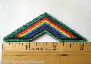 Girl scouts cadettes badge patch~bridge to cadettes~straight.