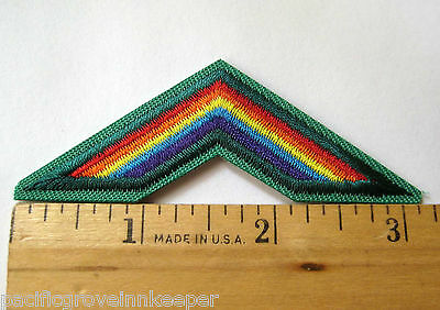 "3"" retired girl scout brownie rainbow award patch badge bridge to."