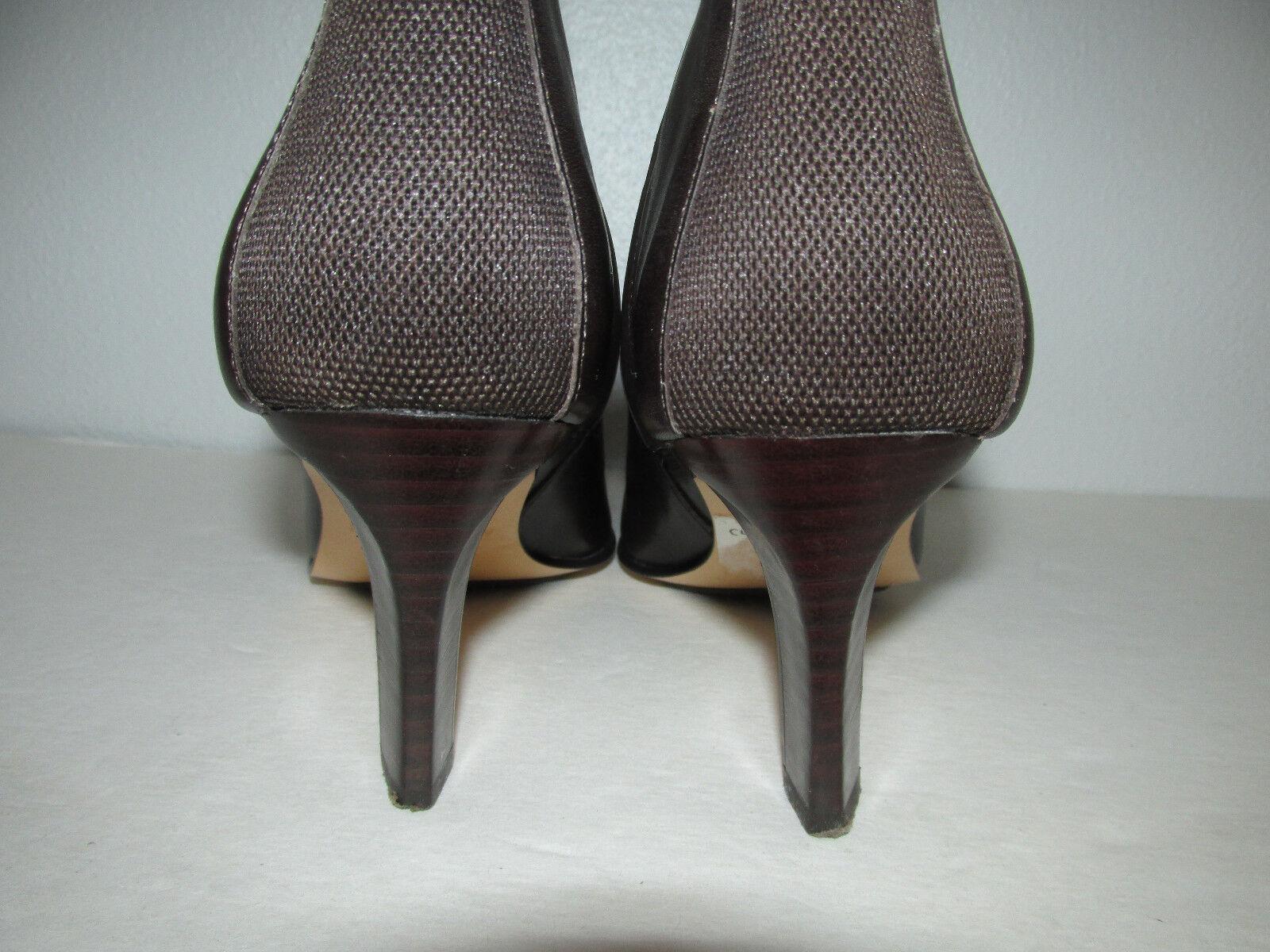 New Anne Klein Leder Amber Stiefel Größe 6 Braun Leder Klein Pointy Toe d9b943