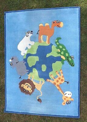 Hochwertiger Kinderteppich Zoo 180x130 Cm (frisch Gereinigt) GläNzende OberfläChe