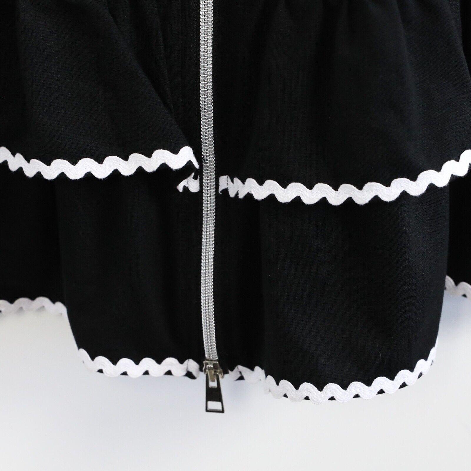 Tenax little black dress form fitting front zip 5… - image 6