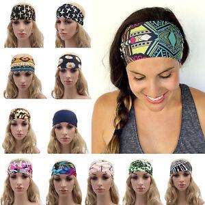 Haarband-doppelt-Haarschmuck-stretch-Baender-FARBWAHL-sport-Stirnband-Yoga-SALE
