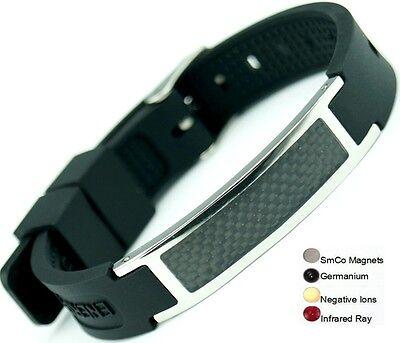 Silicone Magnetic Energy Power Bracelet Health 7in1 Bio GERMANIUM Armband BAND