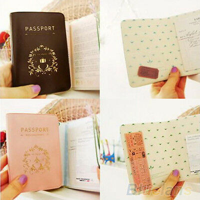 Elegant Simple Travel Passport ID Credit Card Cover Holder Case Protector B94U