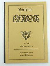 #e5741 Berliner Handpresse Lotterie-Edict De Dato den 20sten Juni 1794 Nr. 34