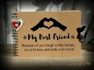 Image Is Loading Quote My Best Friend Memory Book Scrapbook Gift