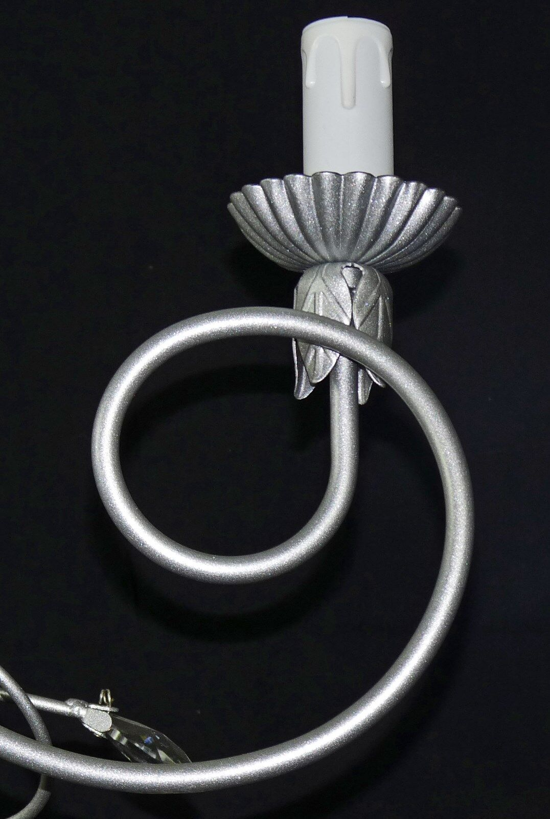 Lampadario ferro battuto 3 luci argento cristallo moderno contemporaneo contemporaneo contemporaneo art.246   Bradées  be6ed1
