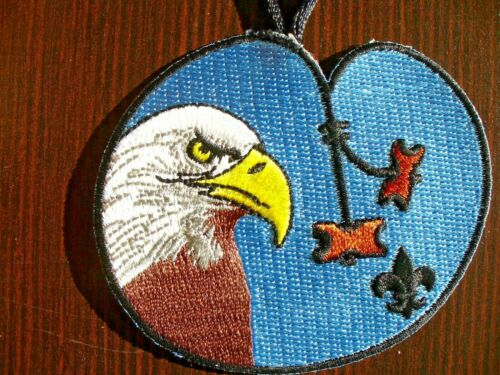 Woodbadge EAGLE Patrol Totem with Beads Pocket Patch with Hanger BSA Wood Badge