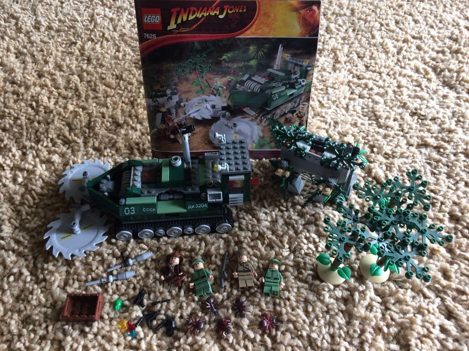 Lego Indiana 7626 Jones Jungle Cutter 511pcs Minifigures Manual 100% Set RetiROT