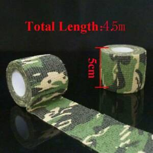 5CM-4-5M-Camo-Gun-Hunting-Waterproof-Camping-Camouflage-Stealth-Duct-Wrap-Tape