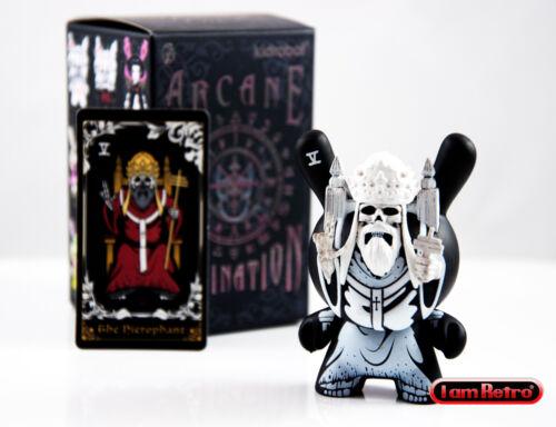 """Hierophant Blanc-Arcanes Divination petit coin Series 3/"""" VINYL Figure Kidrobot nouveau"""