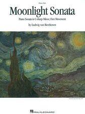 Moonlight Sonata Sheet Music Piano Solo NEW Beethoven 000351694