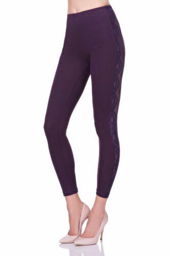 Unique /& Elegant Full Ankle Length Leggings With Lace  Sizes 8-20  LPL