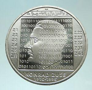2010-GERMANY-Computer-Whiz-Konrad-Zuse-Genuine-Proof-Silver-10-Euro-Coin-i76044