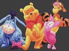 Winnie The Pooh & Friends puntada cruzada contada Kit 14ct 20 in x 14 ""