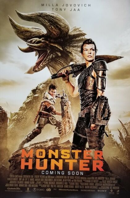 Monster Hunter Double Sided  Movie Poster 27x40 Original