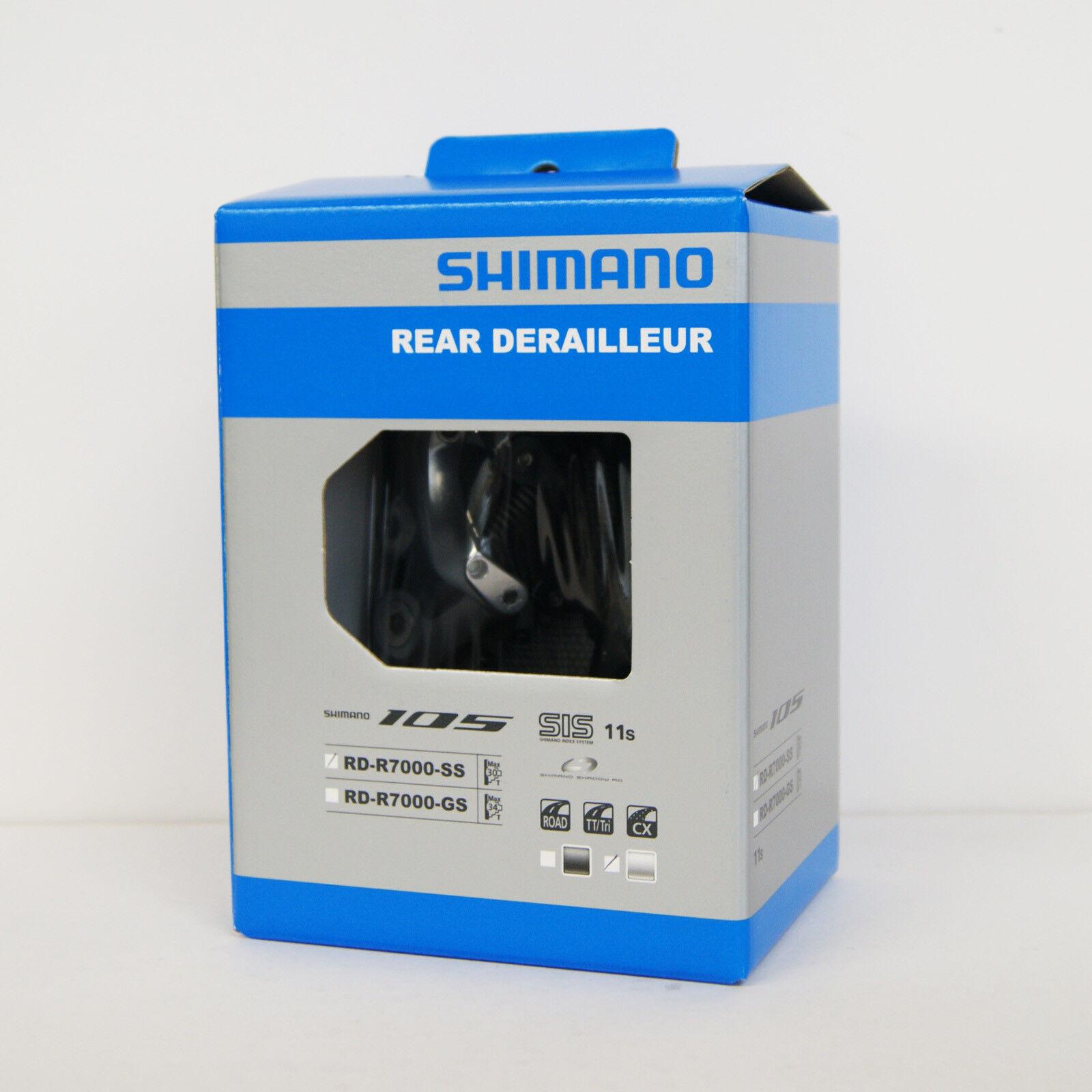 Shimano 105 RD-R7000 11-speed Desviador Trasero Ss Montaje Directo Plata