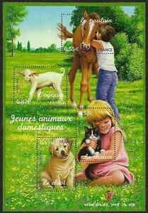 2006-FRANCE-BLOC-N-96-BF-Chien-chat-cheval-agneau-dog-cat-horse-sheet-MNH