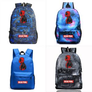 Marvel Deadpool Backpack Students School Bags Men s Shoulder Travel ... cd1c07f1b4ebd