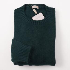 NWT-690-CRUCIANI-Forest-Green-Thick-Merino-Wool-Sweater-Tall-M-MT