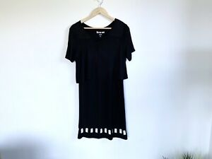 BBC-Doctor-Who-Black-Tardis-Dress-Size-Small-Tshirt-Dress-Short-Sleeve