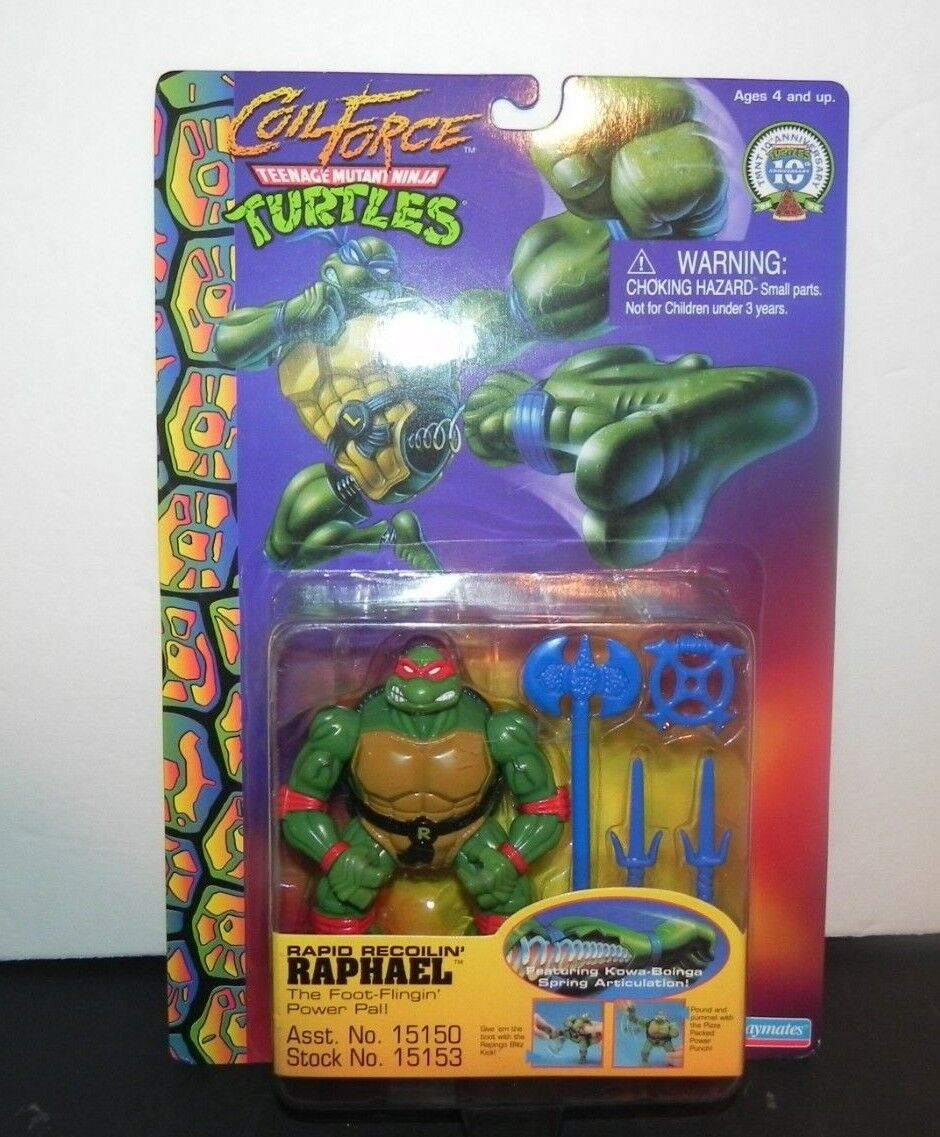 TEENAGE MUTANT NINJA TURTLE COIL  FORCE RAPHAEL 1996- nouveau on voitureD - Libre Shipping  acheter pas cher