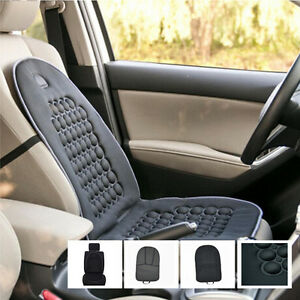 2x Black Car Seat Pad Cover Cushion Therapy Massage Padded Bubble Foam Chair Mat