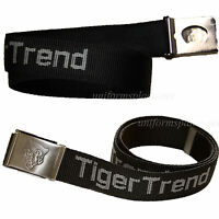 Unisex Tiger Trend Web Belt With Bottle Opener Buckle 1.5 X 46 Belts Black
