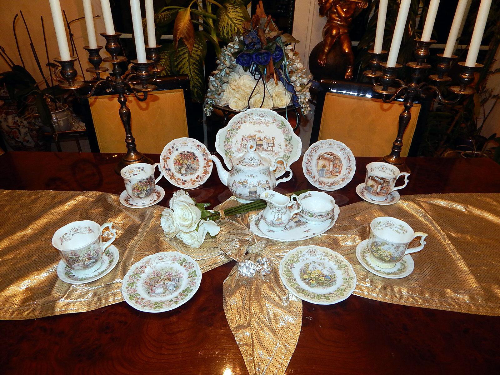 Elegante juego de té café Service 4 estaciones brambly hedge Jill barklem n1