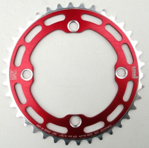 Porkchop BMX single speed bicycle Chop Saw I Chainring 38T 4 bolt 104 bcd RED