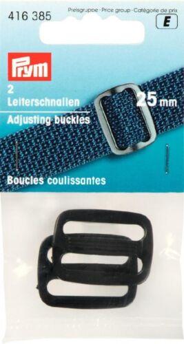 Prym Plastic Adjusting Buckles 416385-M per pack of 2
