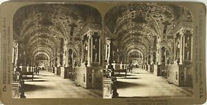 Italia-Roma-Vaticano-Biblioteca-Pape-Foto-Stereo-Vintage-Analogica-PL62L6