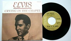 Near-Mint-Elvis-Presley-CRYING-IN-THE-CHAPEL-7-034-VINYL-45-CANADIAN-CANADA