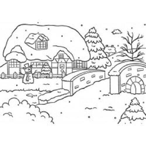 Snowy House Nellie Snellen Embossing Folder