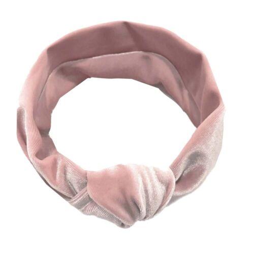 Newborn Headband Velvet Elastic Baby Turban Knot Hair Band Girls Head Wrap