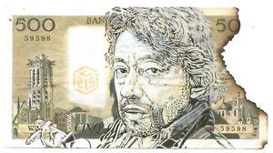 C215-Serge-Gainsbourg-Pochoir-original-sur-un-authentique-billet-de-500-francs