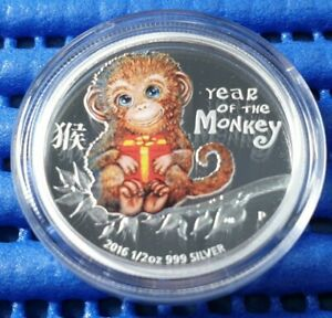 2016-Tuvalu-50-Cents-Year-of-the-Monkey-Silver-Proof-Coin-with-Box-amp-Certificate