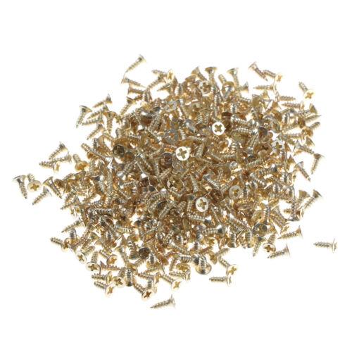 M2*6 Flat Self-tapping Screws Brass Material Golden Screws DIY Model Tool WH