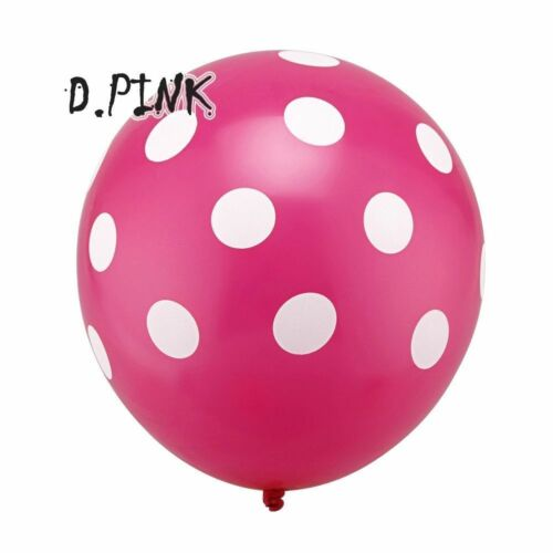 "Polka Dots Spots Birthday Party BALLOONS Decotations Supplies 12/"" LATEX SPOTTY"